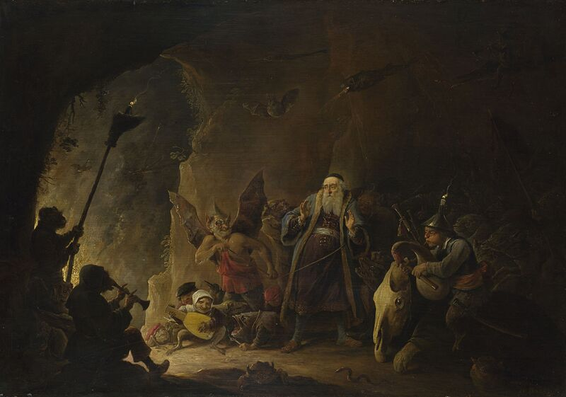 David Teniers the Younger The Rich Man being led to Hell 1647