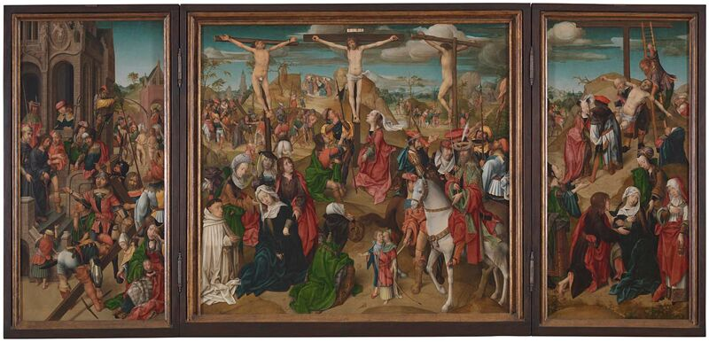 Master of Delft Triptych Scenes from the Passion of Christ 1510
