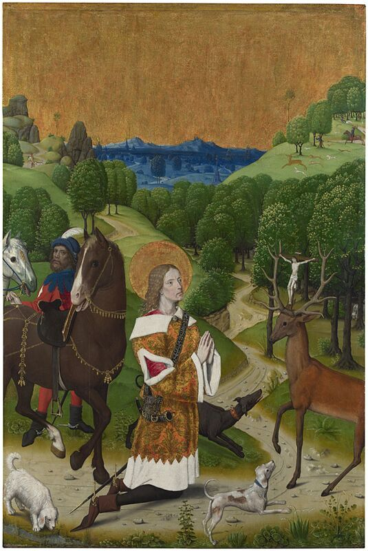 Master of the Life of the Virgin The Conversion of Saint Hubert 1485
