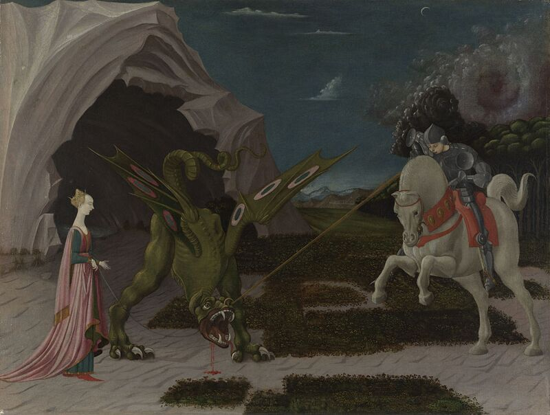 Paolo Uccello Saint George and the Dragon 1470