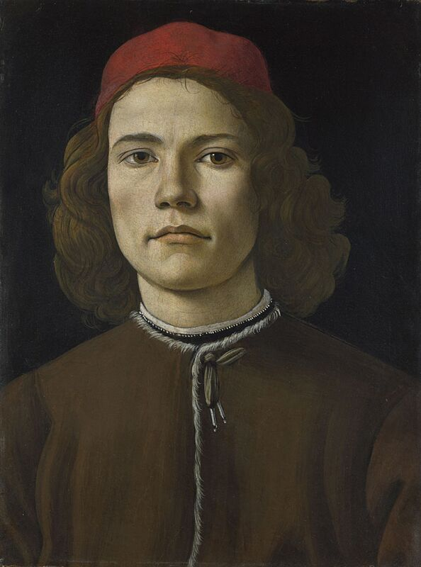 Sandro Boticelli Portrait of a young man 1480