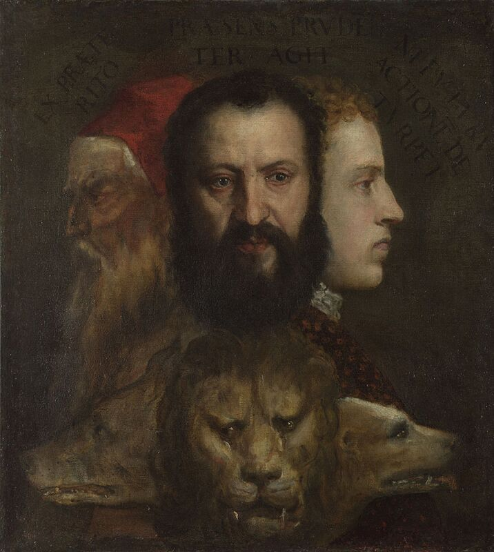 Titian An Allegory of Prudence 1550