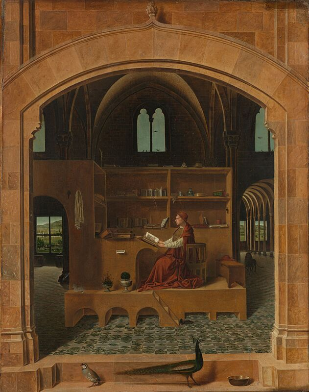 Antonello de Messina Saint Jerome in his Study 1475
