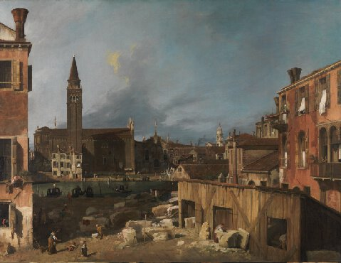 Canaletto Stonemason's Yard 1725