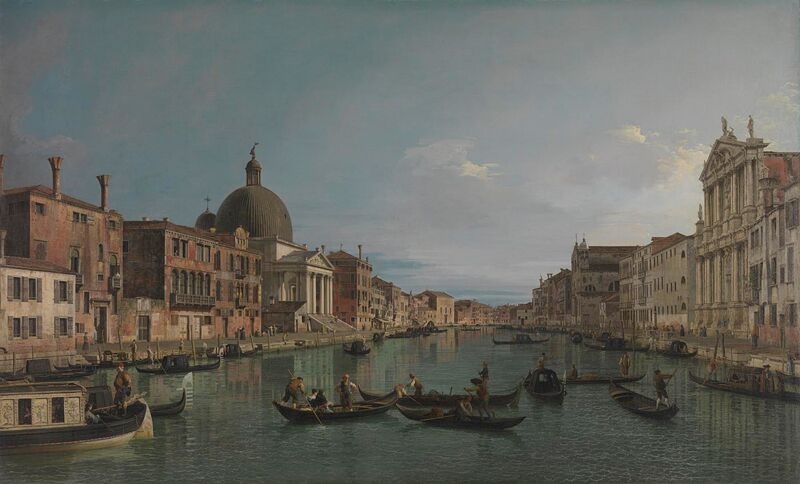 Canaletto Venice the Grand Canal with S-Simeone Piccolo 1740