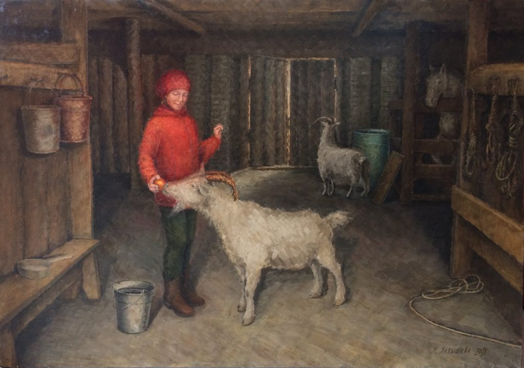 Oil Painting In the Barn