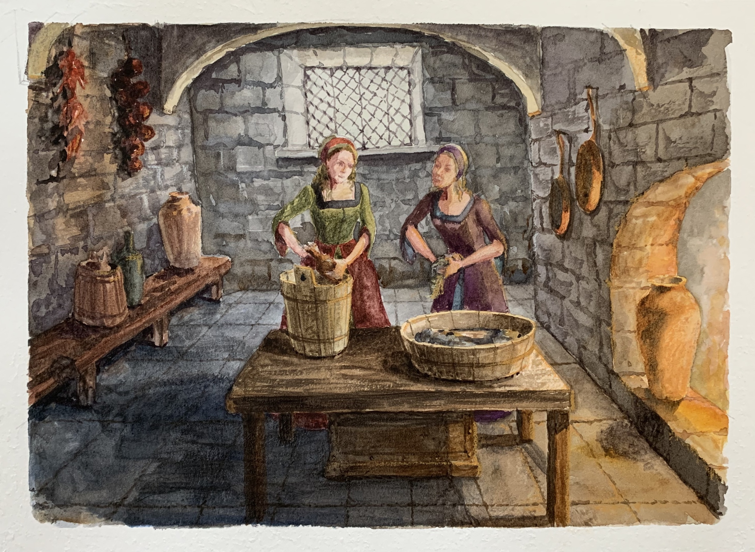 Book illustration Two sisters
